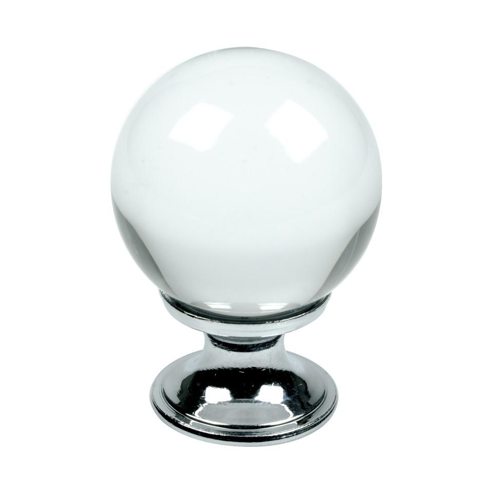 Knopp Crystal-30 glas/krom