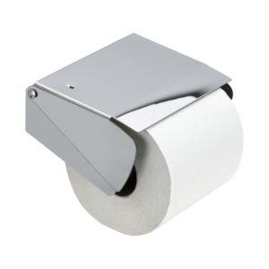 Solid Toapappershållare m.lock pol.krom