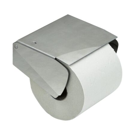 Solid Toapappershållare m.lock rostfritt