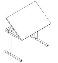 Ergobord, bordplade B