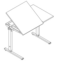 Ergobord, bordplade D